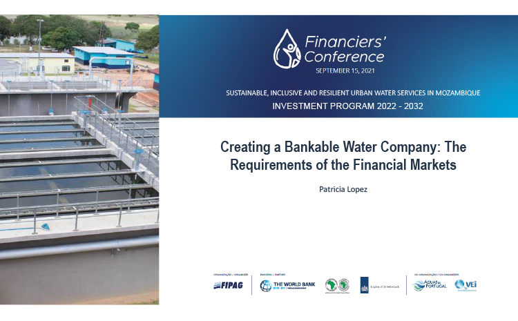 Creating a Bankable Water Company: The Requirements of the Financial Market