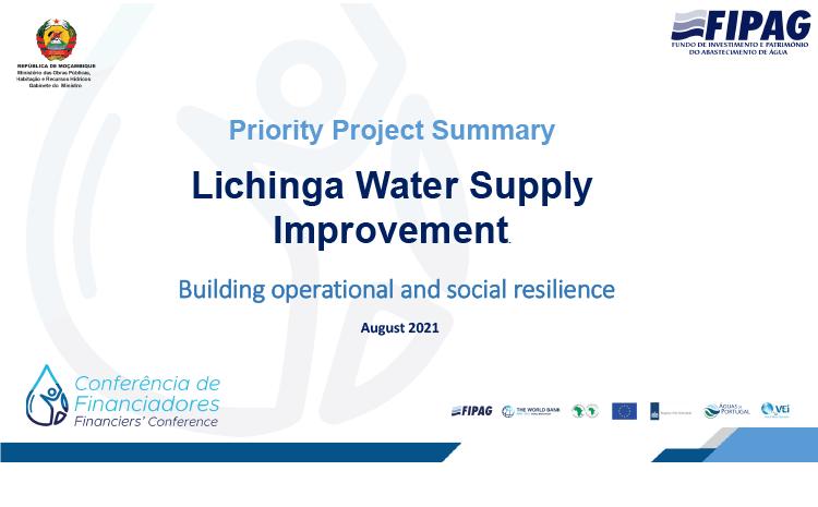 Lichinga Water Supply Improvement